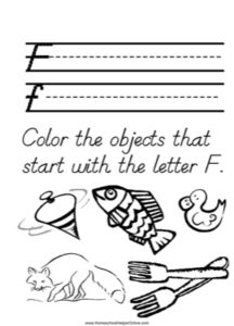 Alphabet Tracer Letter F Worksheet