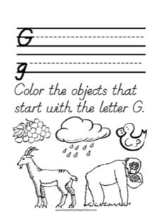 Alphabet Tracer Letter G Worksheet