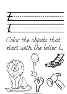 Alphabet Tracer Letter L Worksheet