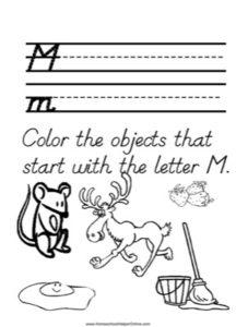 Alphabet Tracer Letter M Worksheet