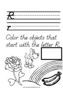 Alphabet Tracer Letter Q Worksheet