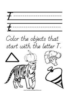 Alphabet Tracer Letter T Worksheet