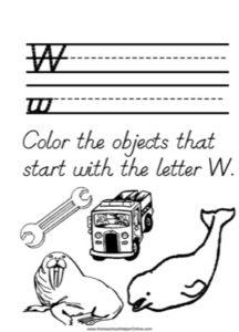 Alphabet Tracer Letter W Worksheet