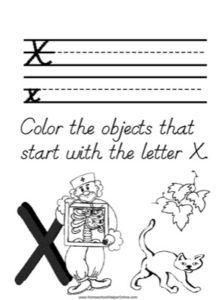 Alphabet Tracer Letter X Worksheet