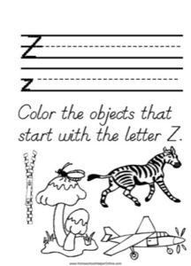 Alphabet Tracer Letter Z Worksheet
