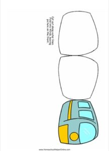Train Shaped Lapbook Template