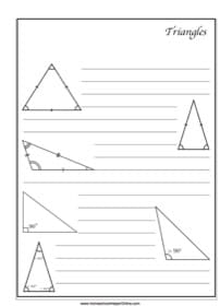 Triangles ~ Geometry Notebooking Page