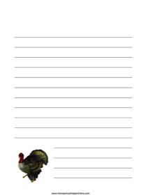 Turkey Notebooking Page