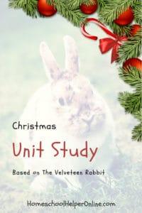 Christmas Unit Study based on The Velveteen Rabbit