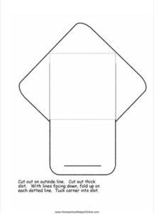 Write in Envelope Lapbook Template