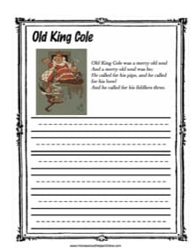 Old King Cole Copy Work