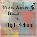 Fine Arts Credits in High School
