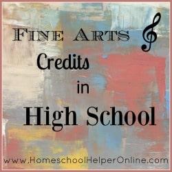 Homeschool Helper Online's Fine Arts Credits in High School