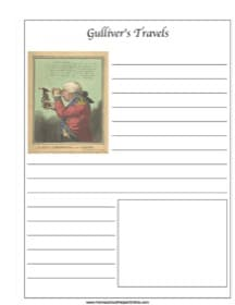 Gulliver's Travels ~ Literature Notebooking Page