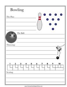 Bowling Worksheet