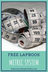 Free Metric System lapbook