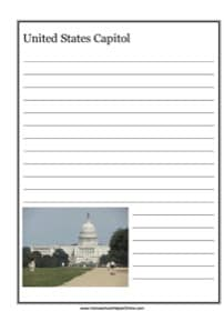 United States Capitol Notebooking Page