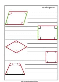 Parallelograms Notebooking Page
