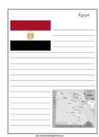 Egypt Notebooking Page
