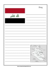 Iraq Notebooking Page