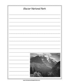 Glacier National Park Notebooking Page