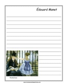 "Édouard Manet's ""The Railroad"" Notebooking Page"