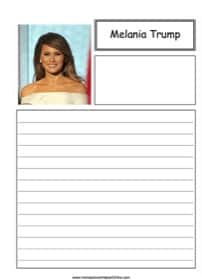 Melania Trump Notebooking Page
