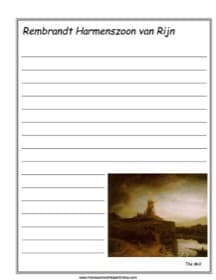"""Rembrandt's """"The Mill"""" Notebooking Page"""