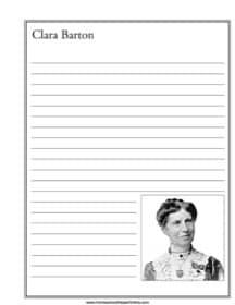 Clara Barton Notebooking Page