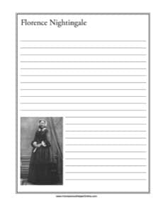 Florence Nightingale Notebooking Page