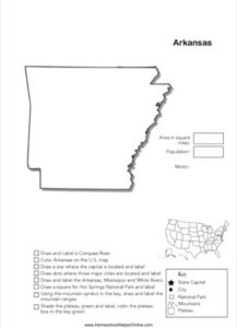 Arkansas Geography Worksheet