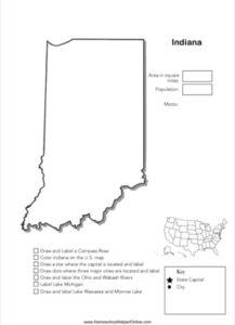 Indiana Geography Worksheet