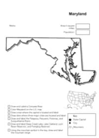 Maryland Geography Worksheet