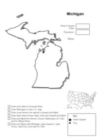 Michigan Geography Worksheet