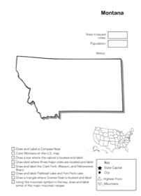Montana Geography Worksheet