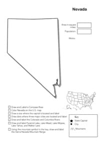 Nevada Geography Worksheet
