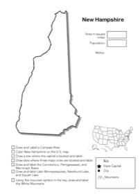 New Hampshire Geography Worksheet