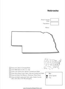 Nebraska Geography Worksheet