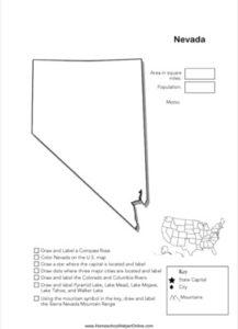 Nevada Geography Worksheet