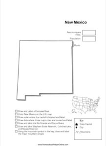 New Mexico Geography Worksheet