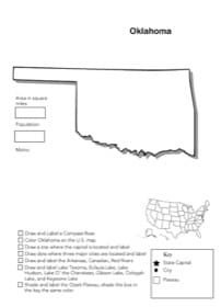 Oklahoma Geography Worksheet