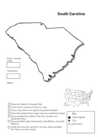 South Carolina Geography Worksheet