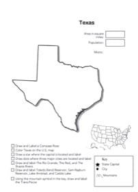 Texas Geography Worksheet