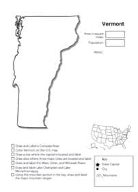 Vermont Geography Worksheet