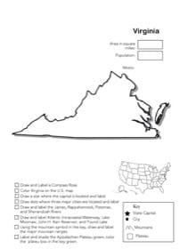 Virginia Geography Worksheet