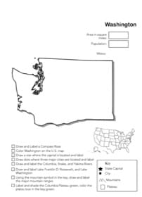 Washington Geography Worksheet