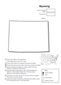 Wyoming Geography Worksheet