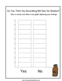 Groundhog Day Shadow Survey Bar Graph