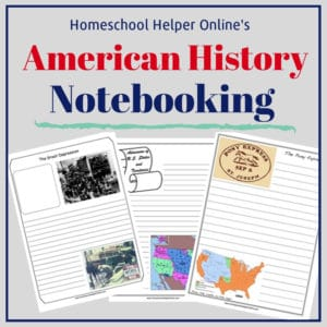 Printable American history notebooking pages