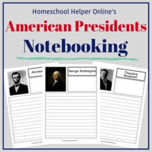 Free printable American Presidents notebooking pages